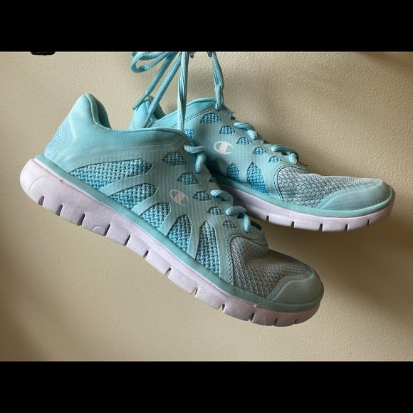 Light Teal Champion Tennis Shoes   Poshmark